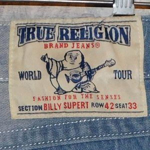 True Religion Billy Super T Straight Leg Jeans 42